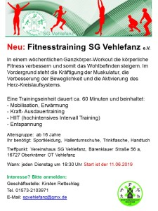 SG Vehlefanz -Fitnesstraining